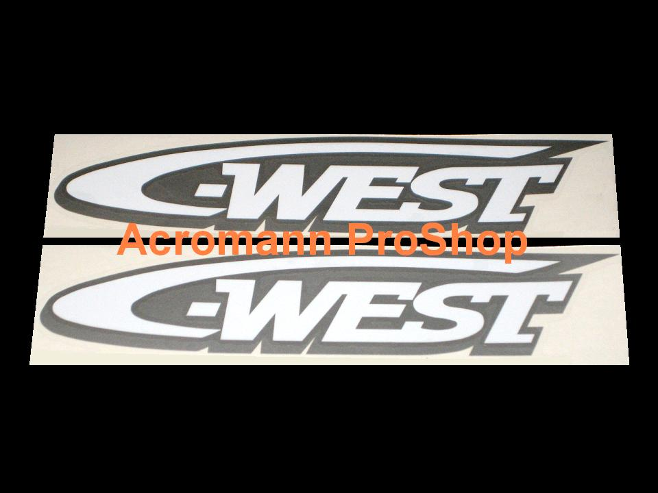 C-West 6inch Decal (Style#2) x 2 pcs
